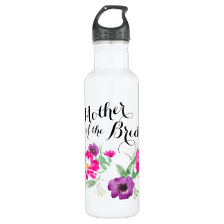 Mutter des Brautwatercolor-Blumen-Wassers Edelstahlflasche
