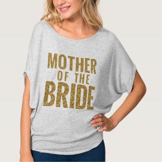 Mutter des Brücke simulierten GoldGlitzer-Blockes T-Shirt