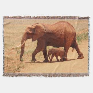 Mutter-Elefant und Baby-Wurfs-Decke Decke