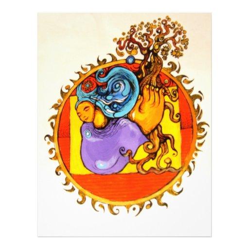 Mutter Erden-Sammlung in der Farbe Personalisierte Flyer