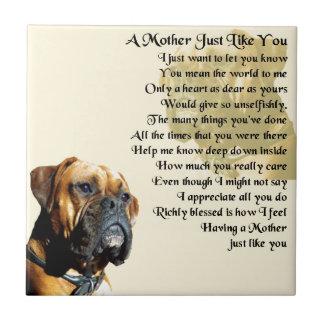 Mutter-Gedicht - Boxer-Hundeentwurf Fliese