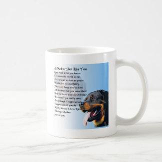 Mutter-Gedicht - Rottweiler Entwurf Kaffeetasse