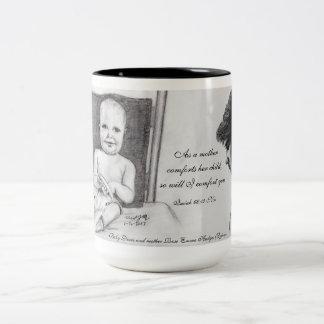 Mutter-Komfort-Schrift Zweifarbige Tasse