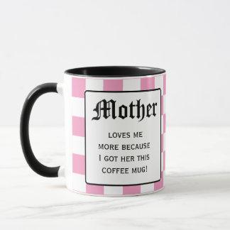 Mutter-Lieben ich mehr Tasse