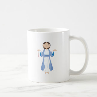Mutter Mary mit Rosenbeet Kaffeetasse