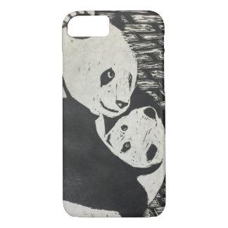 Mutter-Panda - Panda-Bär mit Jungem - iPhone Fall iPhone 8/7 Hülle