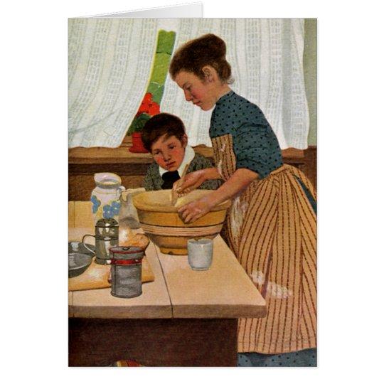 Mutter-Tag, der mit Mamma kocht Grußkarte