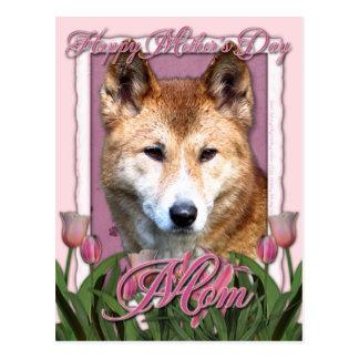 Mutter-Tag - rosa Tulpen - Dingo Postkarte
