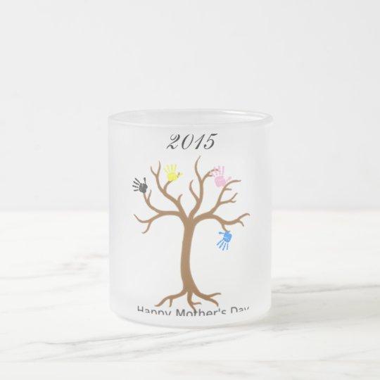 Mutter-Tagesbaum 2016 Matte Glastasse