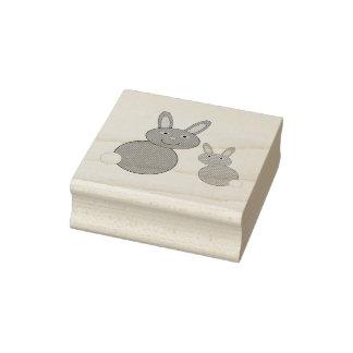 Mutter-Tageshäschen-hölzerne Kunst-Briefmarke Gummistempel