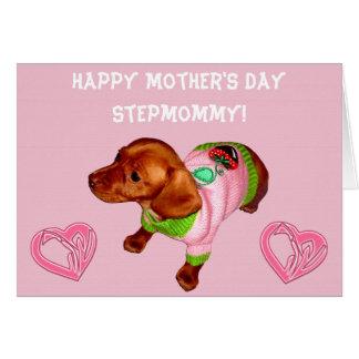 Mutter-Tageskarte für Stiefmutter mit niedlichem Karte