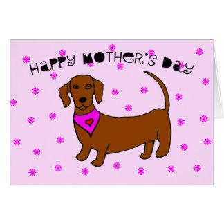 Mutter-Tageskarte vom Hund -- Daschund Karte