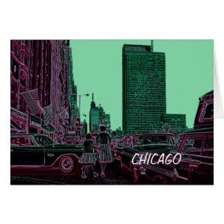 Mutter-Tochter-kaufenmichigan-Allee Chicago 1961 Karte