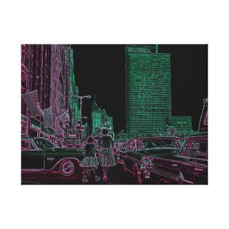 Mutter-Tochter-kaufenmichigan-Allee Chicago 1961 Leinwanddruck