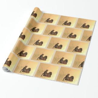 Mutter-u. Baby-Paviane - Tier-Affe-Primate Geschenkpapier