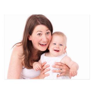 Mutter und Baby Postkarte