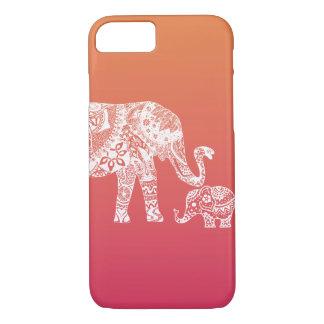 Mutter- und Babyelefant iPhone 7 Hülle