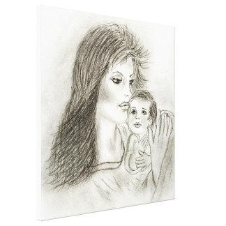 Mutter und Kind Gespannte Galerie Drucke
