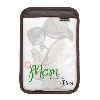 Mutter und Kind mit Blumenmamma u. iPad Mini Sleeve