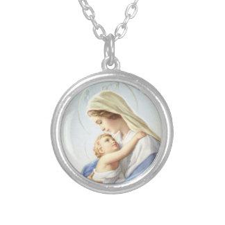 Mutter und Kind Necklace_Small Versilberte Kette