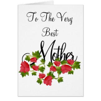 Mutter und Rosen Karte