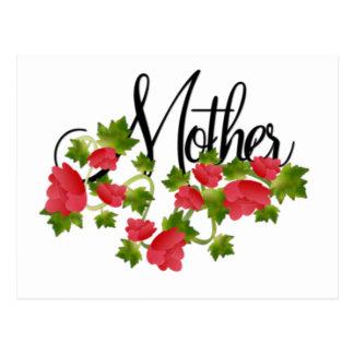 Mutter und Rosen Postkarte