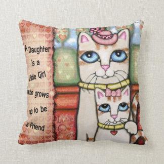 Mutter-und Tochter-Katzen-Liebethrow-Kissen Kissen