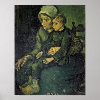 Mutter Vincent van Goghs | und Kind, 1885 Poster