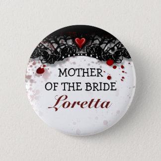 Mutter von Braut-Blut-Spritzer-Halloween-Hochzeit Runder Button 5,1 Cm