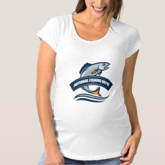 MutterschaftsShirt - nationales Fischen-Depot Umstands-T-Shirt