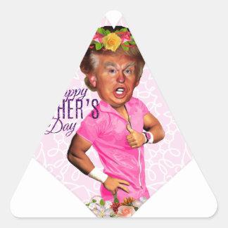 Muttertag Donald Trump Dreieckiger Aufkleber
