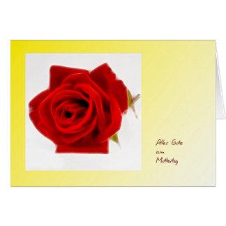 Muttertagskarte modern rote Rose Karte