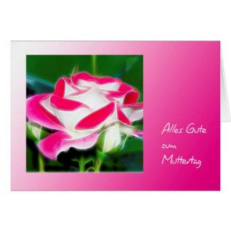 Muttertagskarte modern weißrote Rose Karte