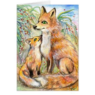 Mutterund BabyFox Mitteilungskarte