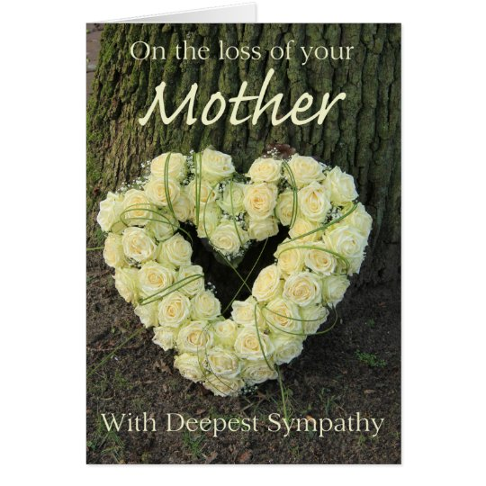 Mutterverlust Rosen-Beileid Karte