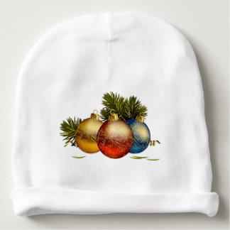 Mütze Baby Kugeln von Weihnachten Babymütze