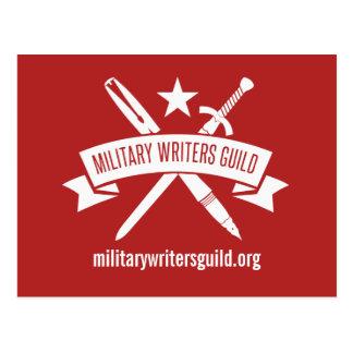 MWG Logopostkarte, Feiertags-Rot Postkarte