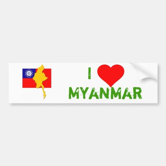 Myanmar - Burma Autoaufkleber