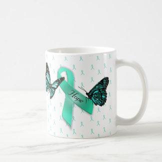 Myasthenia Gravis Hoffnungs-aquamarine Kaffeetasse