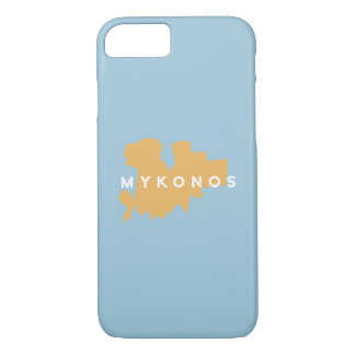 Mykonos Griechenland Insel-Silhouette iPhone 8/7 Hülle