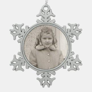 #mymom Zinn-Schneeflocke-Weihnachtsdekoration Schneeflocken Zinn-Ornament