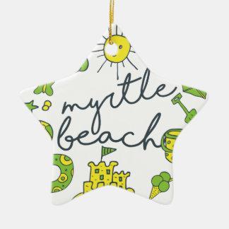 Myrtle- Beachskript Keramik Stern-Ornament