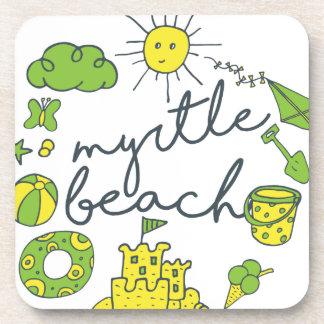 Myrtle- Beachskript Untersetzer