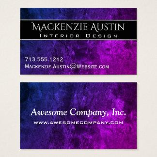 Mystisch-Topaz-Büro  Chic blaues lila rosa Ombre Visitenkarte