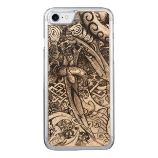 Mystische Blatt-verwickeltes ausführliches Carved iPhone 8/7 Hülle