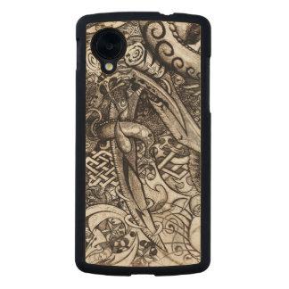 Mystische Blatt-verwickeltes ausführliches Carved® Nexus 5 Hülle Ahorn