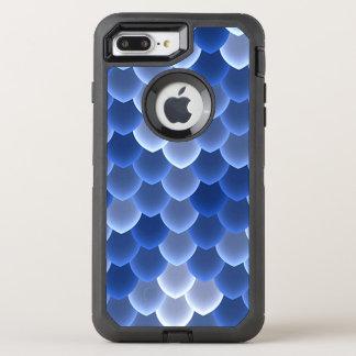 Mystische blaue und weiße Skala OtterBox Defender iPhone 8 Plus/7 Plus Hülle
