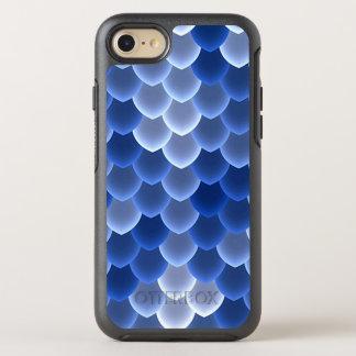 Mystische blaue und weiße Skala OtterBox Symmetry iPhone 8/7 Hülle