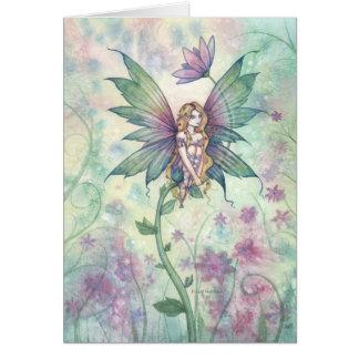 Mystische Garten-Blumen-Fee-Karte Grußkarte