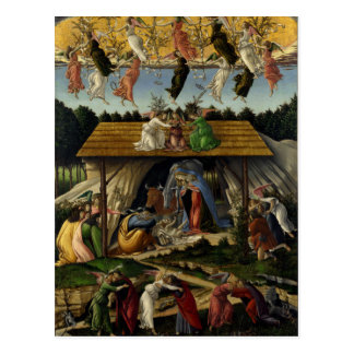 Mystische Geburt Christi durch Sandro Botticelli Postkarte